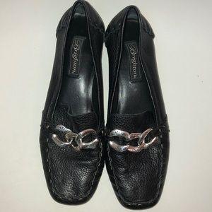 Brighton Klee black loafer shoes size 9 N EUC